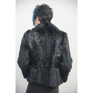 Black Quality Fur Coat Winter Chic Longsleeve 13 L